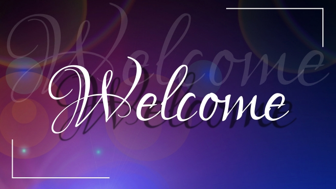 welcome flyer colorful Digitale display (16:9) template
