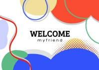 Welcome Friend Postcard template