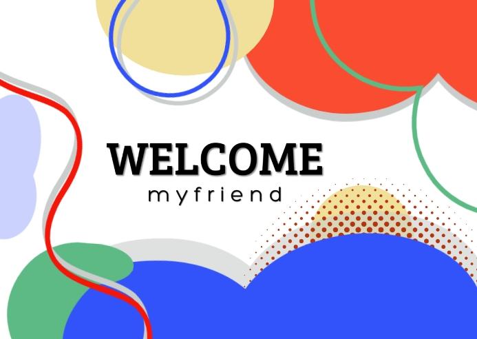 Welcome Friend Poskaart template