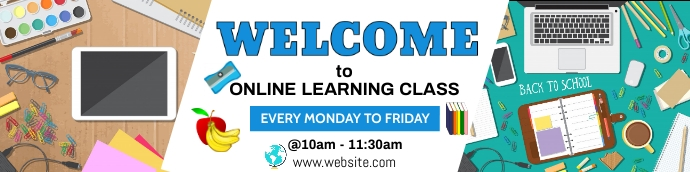 Welcome Google Classroom Background template