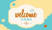Welcome Greeting Cards Etykietka doczepna template
