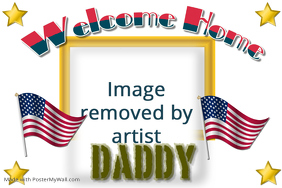 Vintage Postcard--Welcome Home Daddy