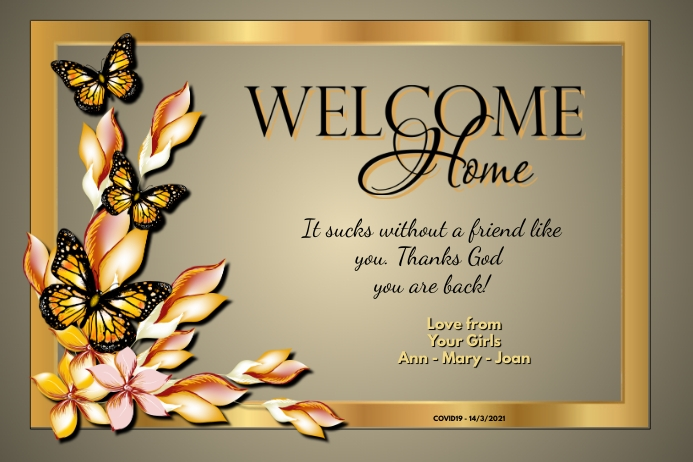 Welcome Home Affiche template