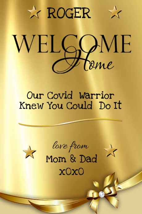 Welcome Home Poster template