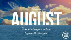 Welcome July Welcome August Video Digital Display (16:9) template