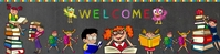 Welcome Kid Colorful Google School Banner template