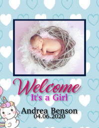welcome new baby WISHES FLYER TEMPLATE