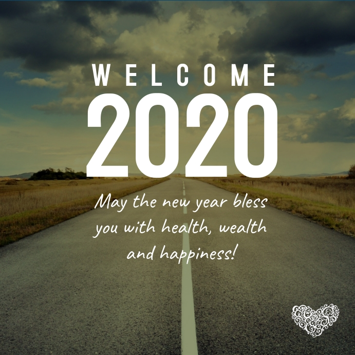 Welcome New Year 2020 Card