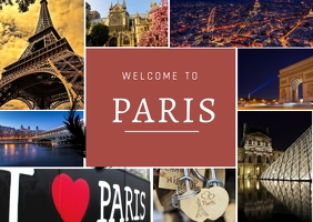 welcome paris Kartu Pos template