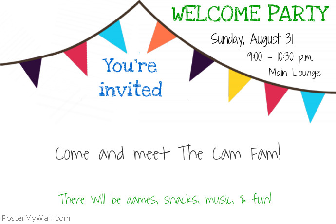 Welcome Party Flyer Template Postermywall