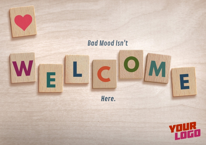 Welcome Poster A4 template