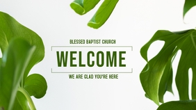Welcome POSTER Digitale display (16:9) template