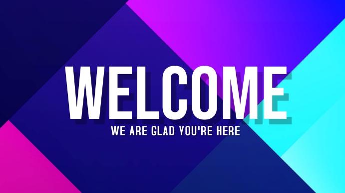 Welcome Poster Pantalla Digital (16:9) template