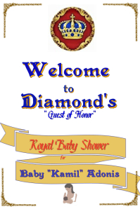 Welcome Royal Prince Baby Shower