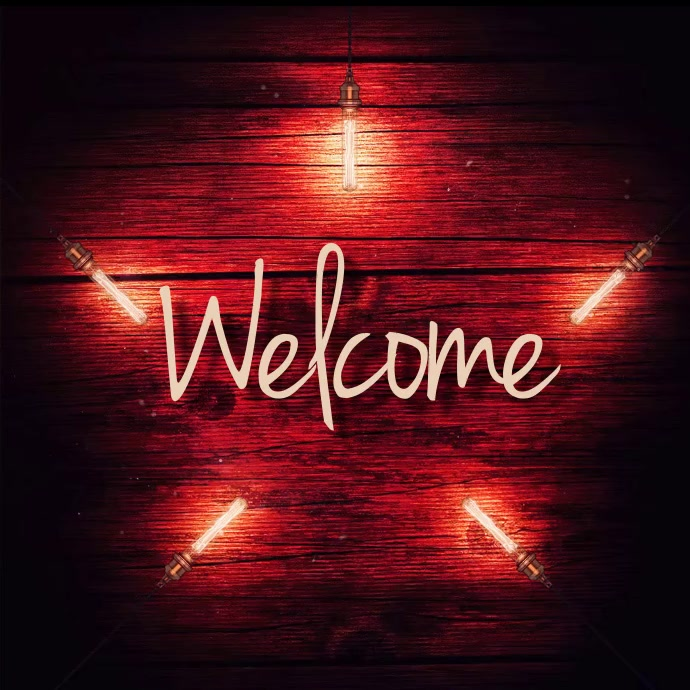 Welcome Sign Instagram Post template