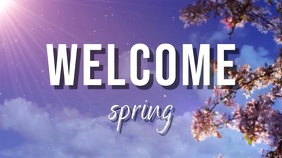 welcome spring Digitalanzeige (16:9) template