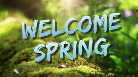 welcome spring Pantalla Digital (16:9) template