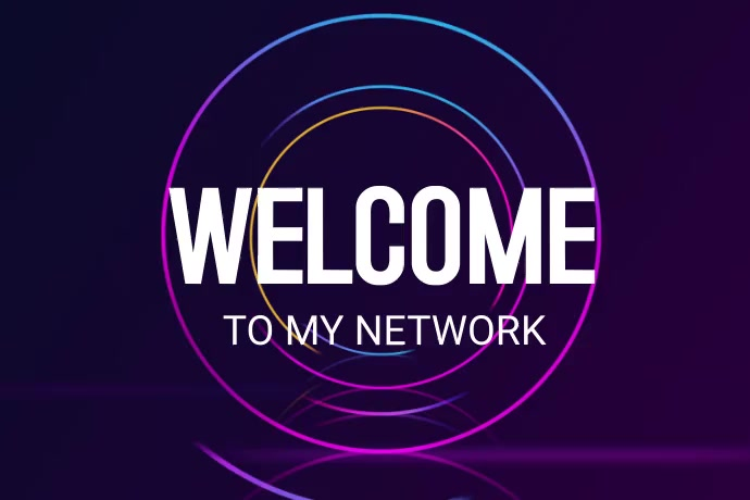 Welcome Text Banner 4' × 6' template