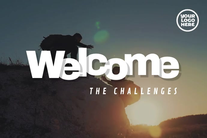 Welcome The Challenges Mountain Video โปสเตอร์ template