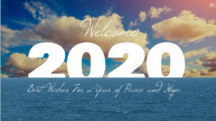 Welcome to 2020 New Year Affichage numérique (16:9) template