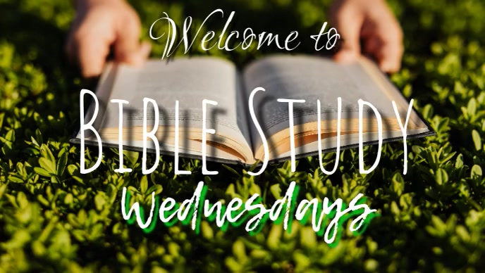 Welcome to Bible Study YouTube 缩略图 template