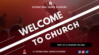 Welcome to church Flyer Digital Display (16:9) template
