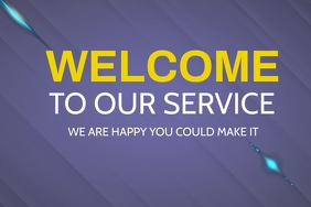 Welcome to church Slide Poster template