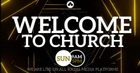 WELCOME TO CHURCH SLIDE TEMPLATE Image partagée Facebook