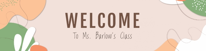 Welcome to class Google Classroom Banner template