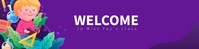 Welcome to classroom Google Classroom Banner template