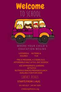 Customizable design templates for kindergarten postermywall welcome to kindergarten poster template saigontimesfo