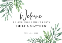 Welcome to Our Engagement Sign A1 template