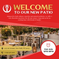 Welcome to our new Patio Square image Instagram na Post template