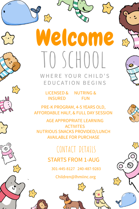 Welcome To School Poster Template