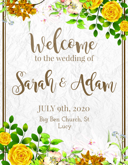 Welcome to the Wedding Flyer