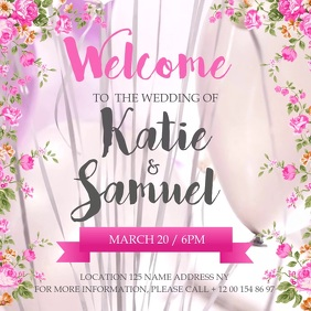 Customize 2640 Wedding Templates Postermywall