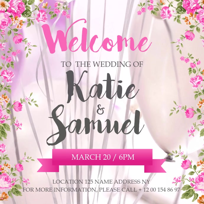 Welcome to the Wedding Square Video template
