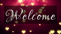 welcome valentines Ecrã digital (16:9) template