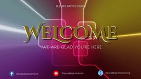 Welcome Video Digital Display (16:9) template