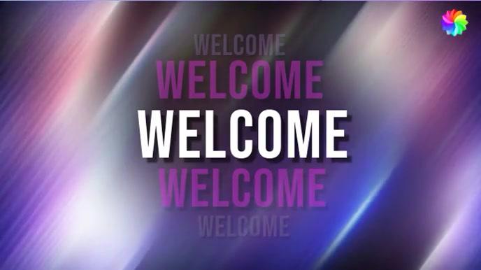 Welcome Video 数字显示屏 (16:9) template