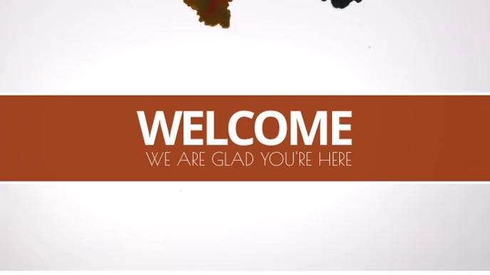 Welcome video Digitale display (16:9) template