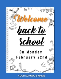 Welcome back to school poster Folder (US Letter) template