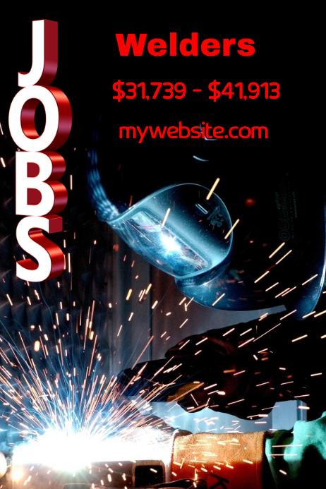 welders hiring poster template