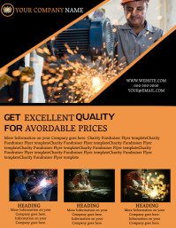 Welding Company Business Flyer template
