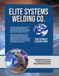 Welding Company Flyer Template Pamflet (Letter AS)
