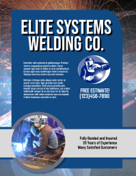 Welding Company Flyer Template Volante (Carta US)
