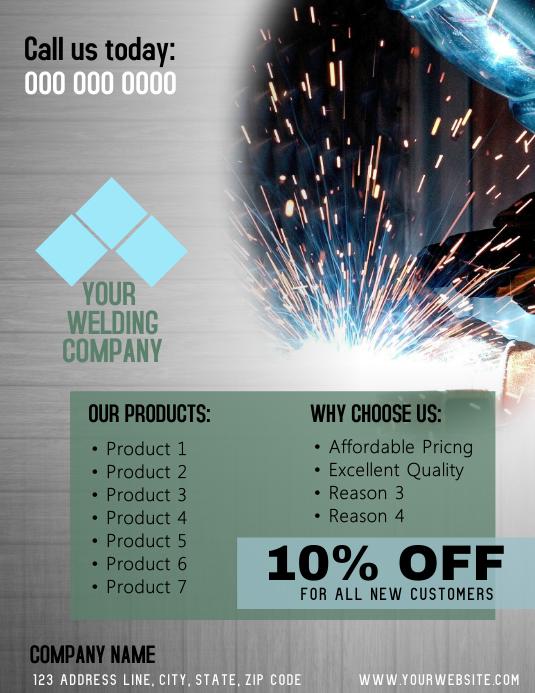 Welding Company Flyer Template