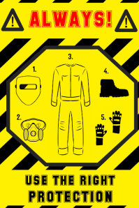 welding safety protection sign