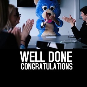 Well Done Congratulations Square (1:1) template
