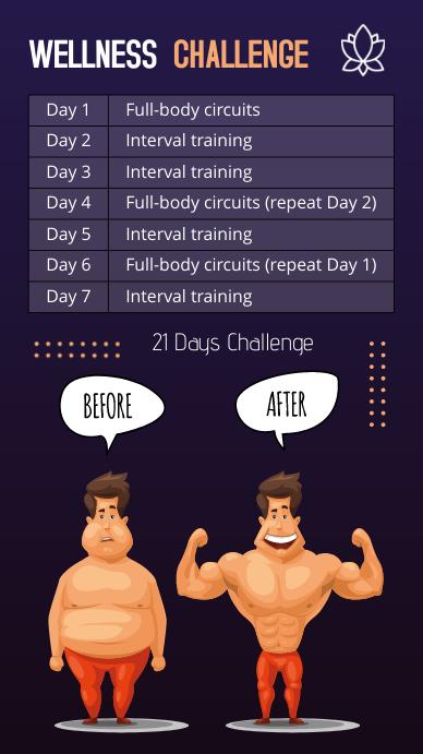 Wellness Challenge Calendar Instagram Story T template